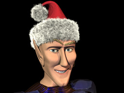 CGI Xmas cap with HyperVoxel Fur!